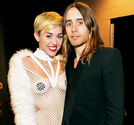 """Miley Cyrus, Jared Leto """"Are Hooking Up,"""" Love Talking Art, Music"""