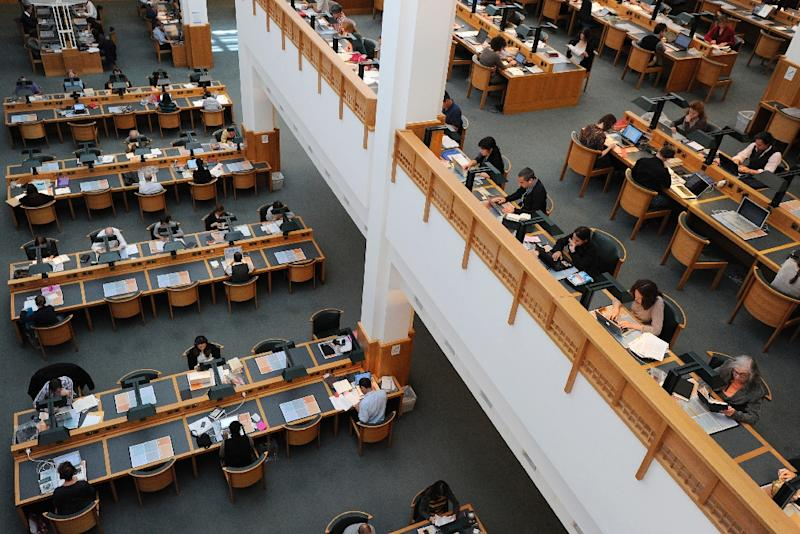 The British Library contains more than 150 million items in its collection, including manuscripts, maps, newspapers and drawings (AFP Photo/Carl Court)