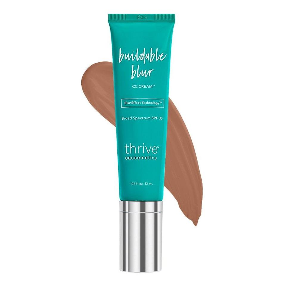 <p>This <span>Thrive Causemetics Buildable Blur CC Cream Broad Spectrum SPF 35</span> ($38) comes in 18 shades. It applies smoothly, and also provides buildable coverage, which is great for when you feel like you need a little something extra.</p>