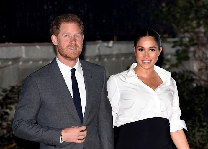 """Prince Harry and Meghan Markle, the Duke and Duchess of Sussex, announced last week that they would """"step back"""" as senior members of the British royal family. (Photo: zz/KGC-03/STAR MAX/IPx)"""