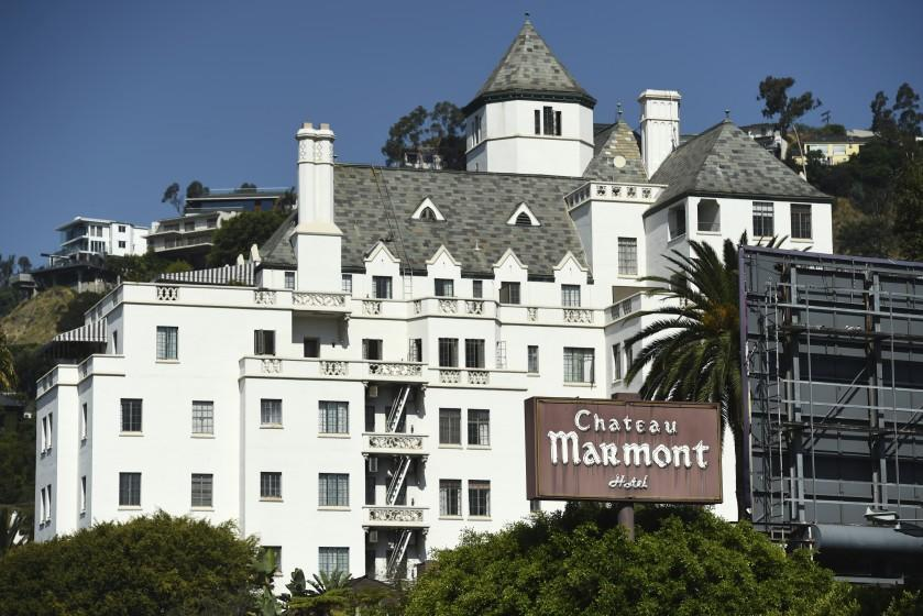 The Chateau Marmont Hotel is pictured, Wednesday, July 29, 2020, in Los Angeles. A Hollywood hotspot for nearly a century, it will be converted into a members-only hotel over the next year. (AP Photo/Chris Pizzello)
