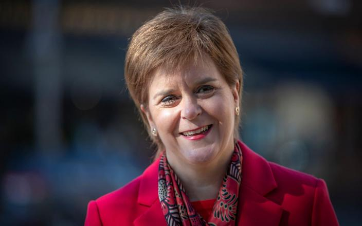 Nicola Sturgeon has said English people should not visit Scotland to use indoor hospitality - Getty Images Europe