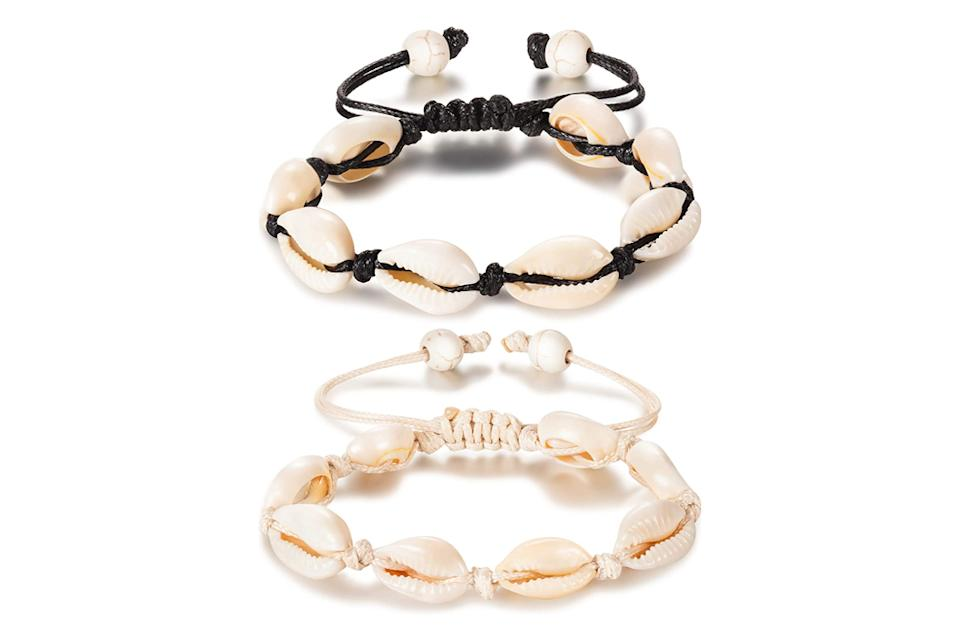puka shell, anklet