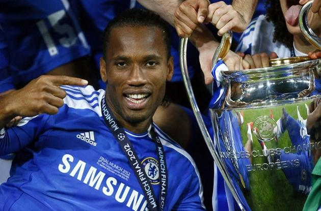 Chelsea test the structural integrity of the Champions League trophy (Reuters)