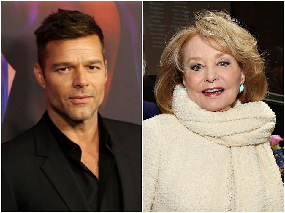 <p>Ricky Martin and Barbara Walters</p> (Phillip Faraone/Cindy Ord/Getty Images)