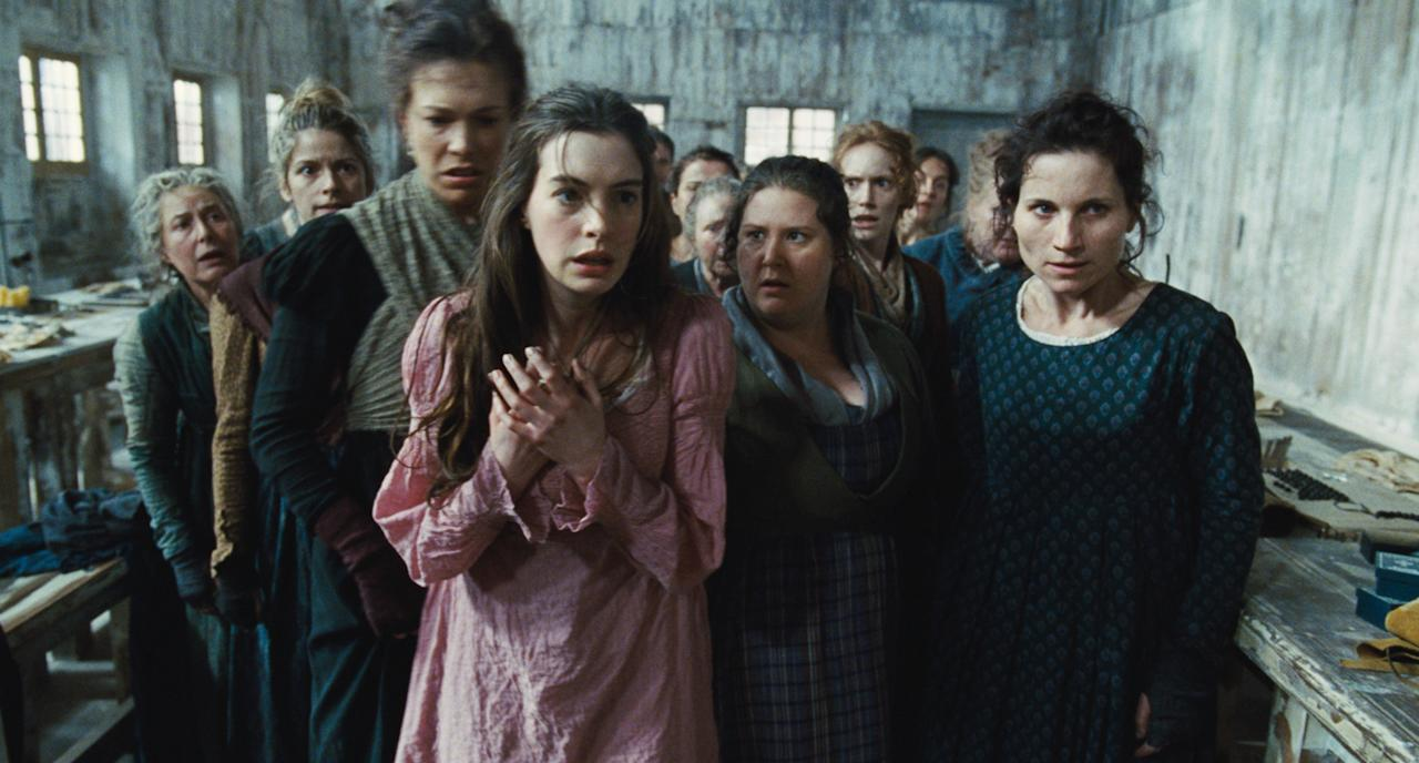 LES MISERABLES, Anne Hathaway (pink dress), 2012. ©Universal Pictures/Courtesy Everett Collection