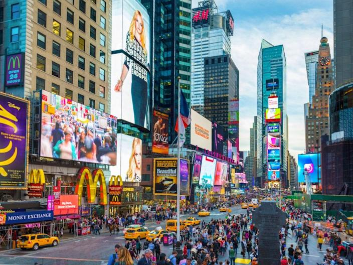 Times Square: Destination vaccination (Getty Images)