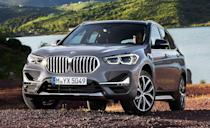 """<p>The <a href=""""https://www.caranddriver.com/bmw/x1"""" rel=""""nofollow noopener"""" target=""""_blank"""" data-ylk=""""slk:BMW X1"""" class=""""link rapid-noclick-resp"""">BMW X1</a> is more practical than the X2 with a lower base price and more passenger and cargo space. Unlike the X2, there's no 302-hp version. But the 228-hp turbo inline-four is smooth. An infotainment system with a 6.5-inch display and Bluetooth is standard; navigation, adaptive cruise control, automated emergency braking, and a self-parking feature are optional.</p><ul><li>Base price: $36,395</li><li>EPA Fuel Economy combined/city/highway: 27/24/33 mpg (FWD)</li><li>Rear cargo space: 27 cubic feet</li></ul><p><a class=""""link rapid-noclick-resp"""" href=""""https://www.caranddriver.com/bmw/x1/specs"""" rel=""""nofollow noopener"""" target=""""_blank"""" data-ylk=""""slk:MORE X1 SPECS"""">MORE X1 SPECS</a></p>"""