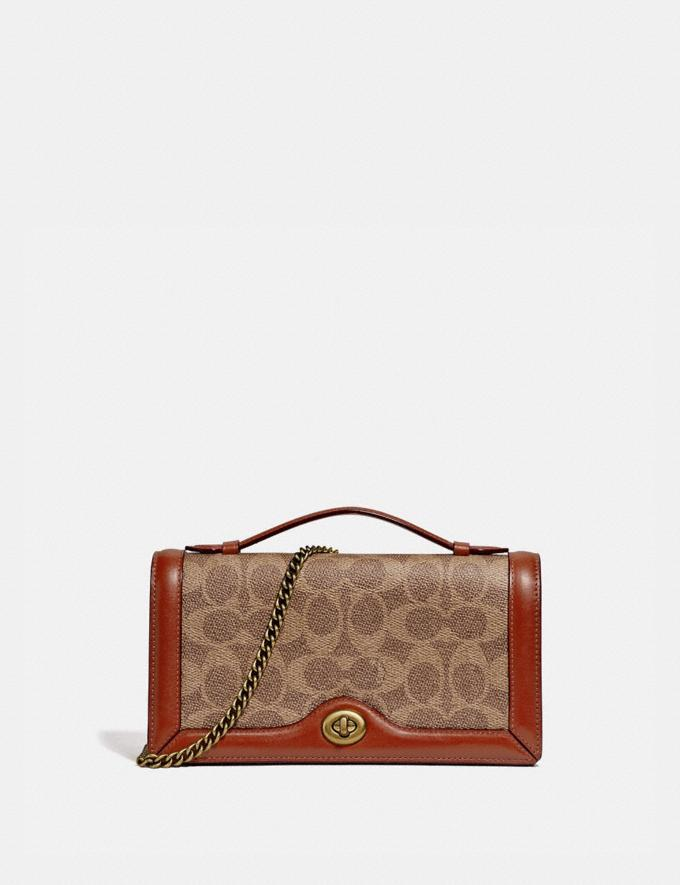 Riley Chain Clutch In Colorblock Signature Canvas is on sale at Coach, $149 (originally $350).