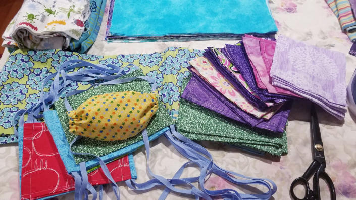 Materials that will be used to sew homemade face masks. (Courtesy: Martina Williams)