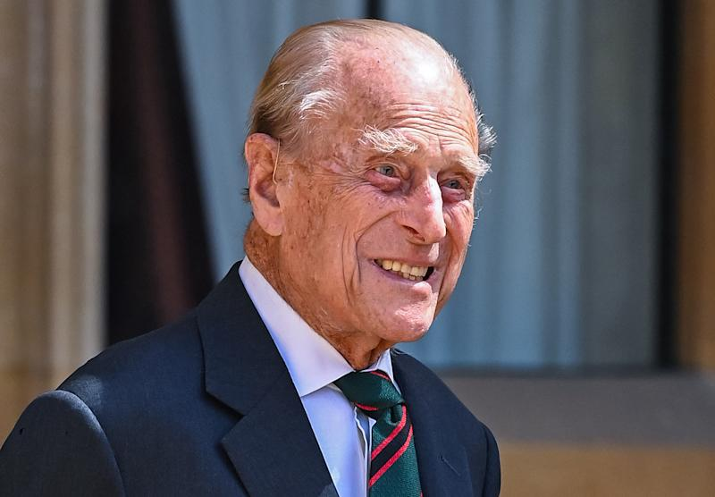 WINDSOR, ENGLAND - JULY 22: Prince Philip, Duke of Edinburgh during the transfer of the Colonel-in-Chief of The Rifles at Windsor Castle on July 22, 2020 in Windsor, England. The Duke of Edinburgh has been Colonel-in-Chief of The Rifles since its formation in 2007. HRH served as Colonel-in-Chief of successive Regiments which now make up The Rifles since 1953. The Duchess of Cornwall was appointed Royal Colonel of 4th Battalion The Rifles in 2007. (Photo by Samir Hussein-Pool/WireImage)