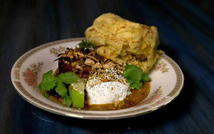 The roasted curry calabaza (labneh yogurt, black lime, fried curry leaves) at Balloo features the Indian flavors chef Timon Balloo first learned to appreciate in his father's cooking.