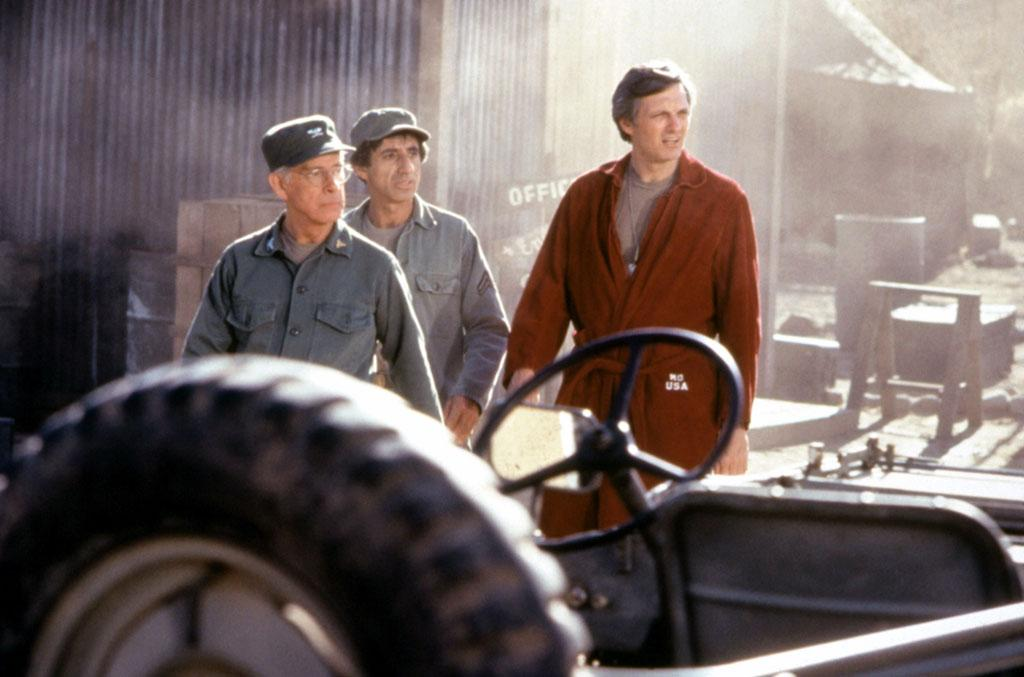 M*A*S*H, from left: Harry Morgan, Jamie Farr, Alan Alda in Goodbye, Farewell, And Amen (Season 11, Episode 16, aired February 28, 1983).