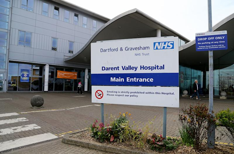 A view of Darent Valley Hospital in Dartford, Kent, as the employment tribunal of Nurse Sarah Kuteh begins where she claims she was unfairly dismissed by the NHS after she spoke to patients about her faith.