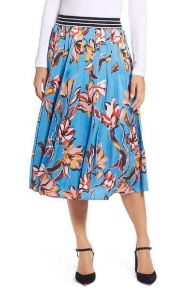 PHOTO: Halogen Printed Pleated Skirt (Nordstrom)