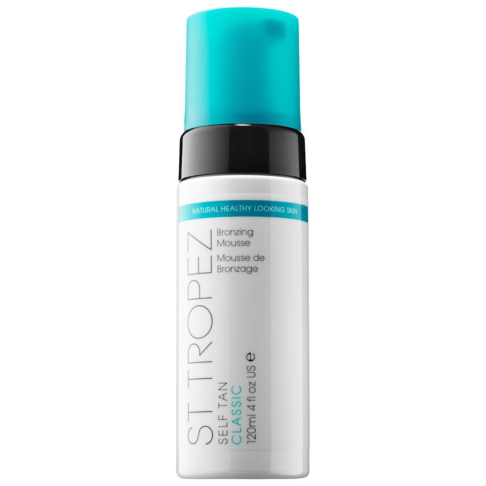 <p>This <span>St. Tropez Self Tan Classic Bronzing Mousse</span> ($42) is a bestseller on Sephora because customers love its easy application. It also dries quickly and doesn't have too strong of a scent.</p>