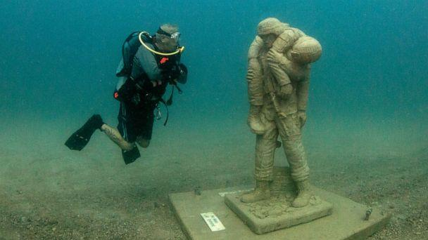 PHOTO: The nation's first-of-its-kind underwater dive memorial honoring American veterans opened in Clearwater, Fla., Aug. 5, 2019. (Rebecca Hurley via Circle of Heroes)