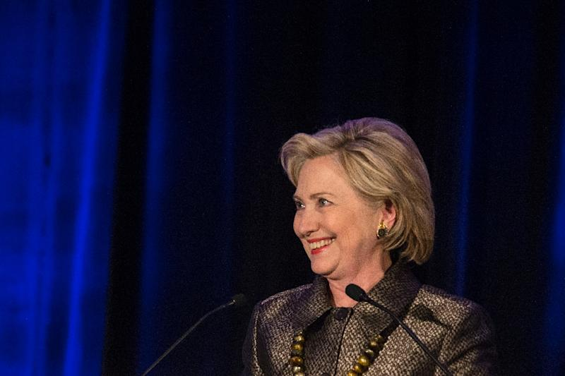 Hillary Clinton, former Secretary of State and 2016 Democratic presidential hopeful speaks during the 2015 integration immigration conference in Brooklyn, New York on December 14, 2015 (AFP Photo/Kena Betancur)