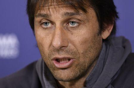 Britain Football Soccer - Chelsea - Antonio Conte Press Conference - Chelsea Training Ground - 28/4/17 Chelsea manager Antonio Conte during the press conference Action Images via Reuters / Tony O'Brien Livepic