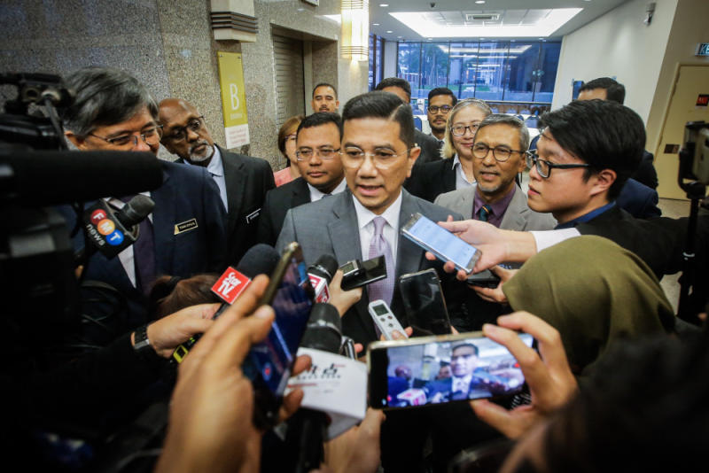 Fahmi Fadzil announced today that deputy president Datuk Seri Azmin Ali will launch both the party's Women and Youth Wing congress tomorrow. — Picture by Hari Anggara