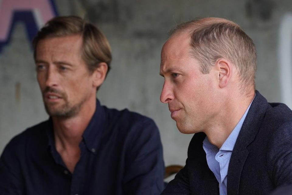 Peter Crouch and William have met a number of times in recent years (Kirsty O'Connor/PA) (PA Wire)