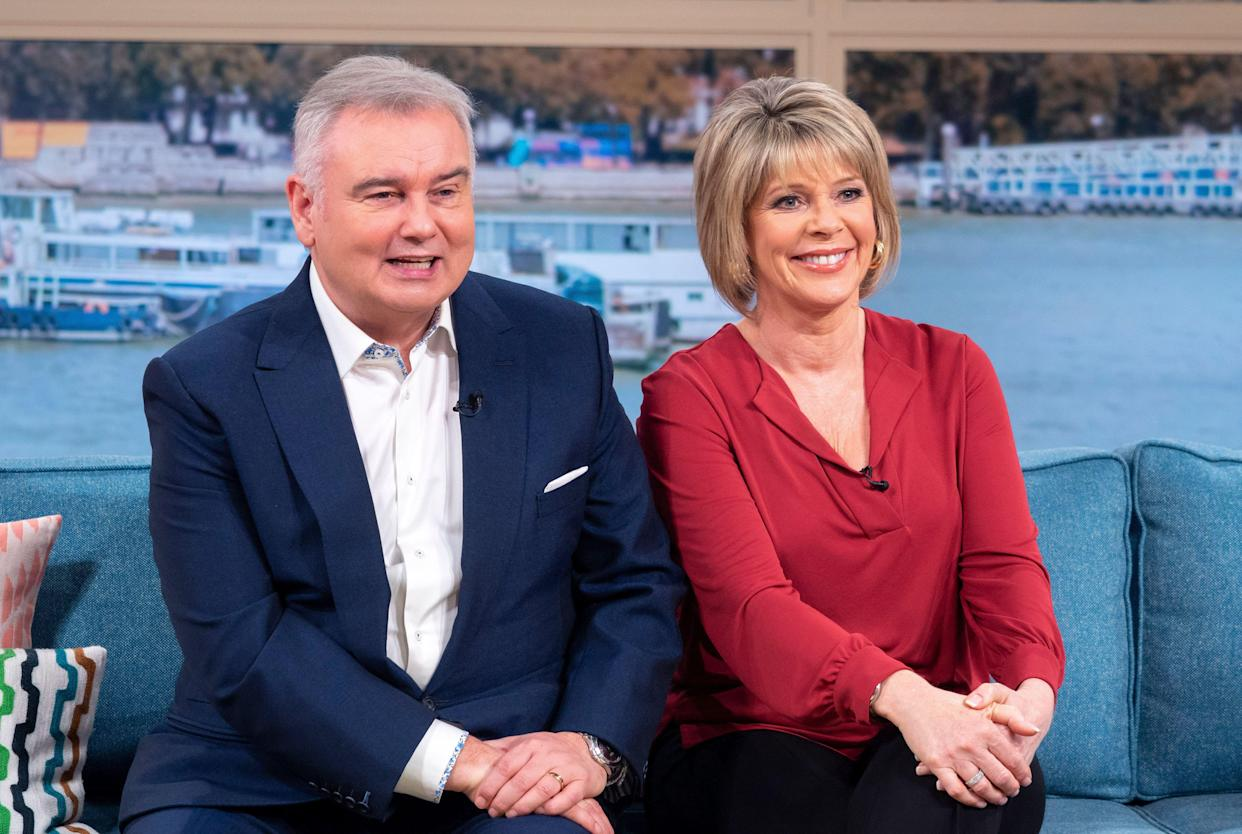 Husband and wife Eamonn Holmes and Ruth Langsford work together on <em>This Morning</em>. (ITV)