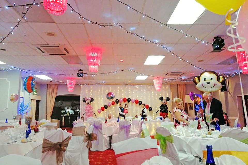 The wide shot of the Disney-themed wedding venue. [Photo: Caters]