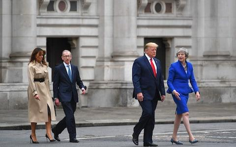 Theresa May and Donald Trump - Credit: AFP