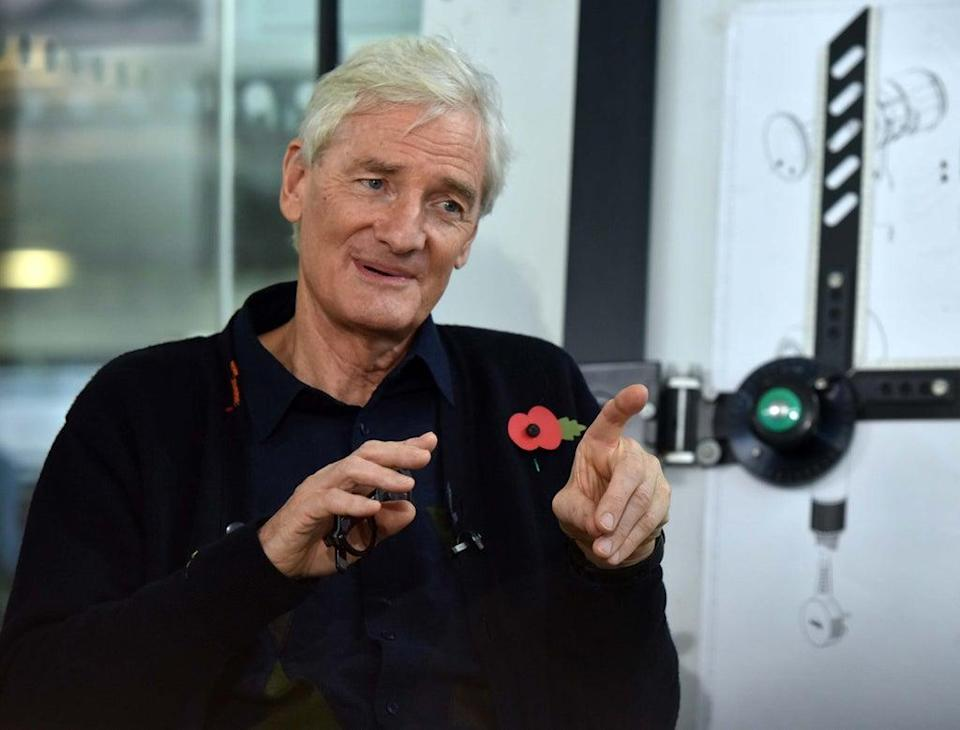 Sir James Dyson has called on the Government to lead workers back into offices in order to restore the 'competitiveness' of the UK's firms (Jeff Overs/PA) (PA Media)