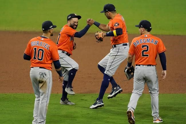 Springer, Valdéz help Astros top Rays 7-4, force ALCS Game 7