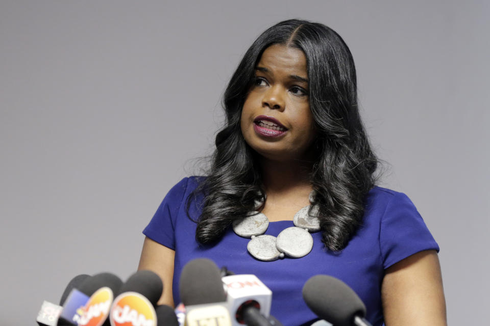 Cook County State's Attorney Kim Foxx at a news conference in Chicago in 2019.