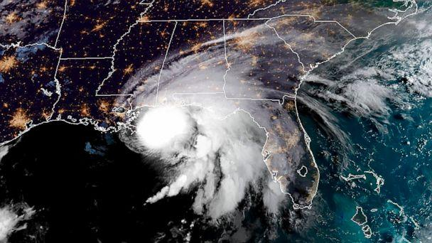 PHOTO: A RAMMB/NOAA satellite image shows Hurricane Sally off the US Gulf Coast on Sept. 15, 2020, at 12:00 UTC. (Handout/RAMMB/NOAA/NESDIS/AFP via Getty )
