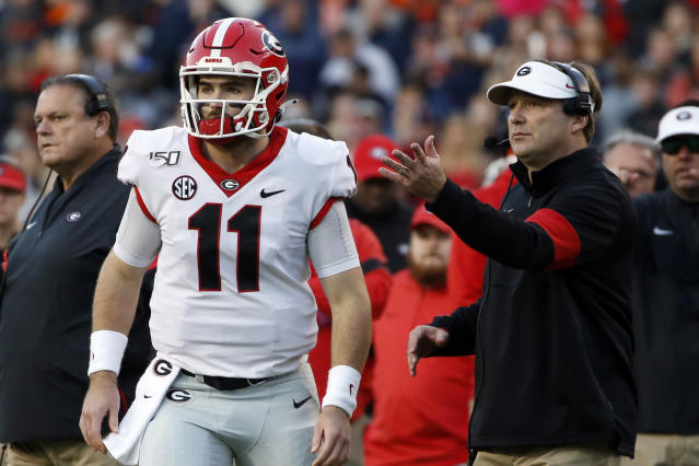 Georgia signed four receivers for Jake Fromm to throw to in 2020. Assuming he stays in Athens for his senior season. (AP Photo/Butch Dill)
