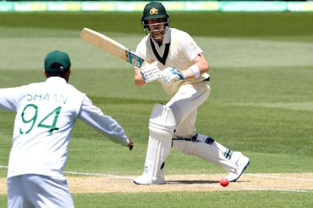 Australia's Steve Smith became the fastest man to 7,000 Test runs, shattering a record that had stood since 1946 (AFP Photo/William WEST)