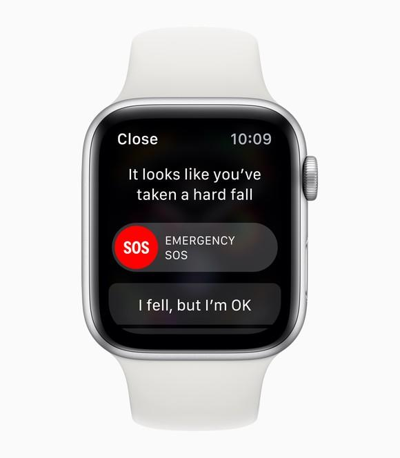 Apple Watch with a notification