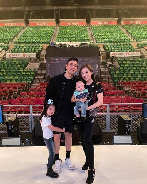 Rabee'a and Tim with their daughter Tanya Faith and baby son Tristan Hart