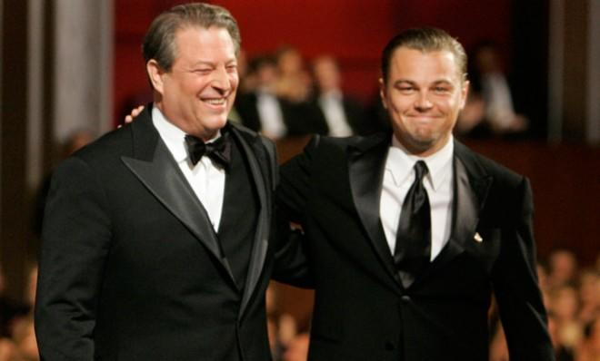 Al Gore gets to hobnob with the Hollywood elite, including Leonardo DiCaprio, thanks to his 2006 documentary An Inconvenient Truth.