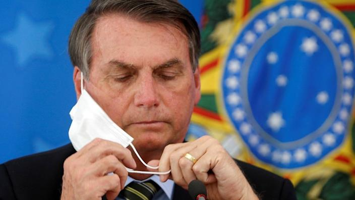 Mr Bolsonaro has tested positive for coronavirus