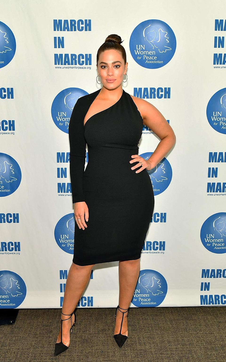 <p>This one shoulder LBD looks perfect paired with pointed stilettos and an up-do (Getty Images) </p>