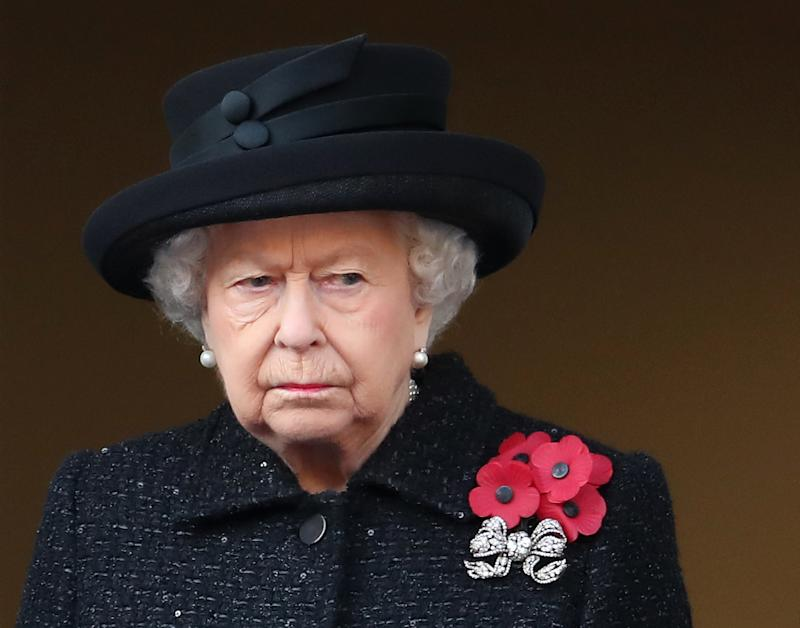 Queen Elizabeth wearing black upset