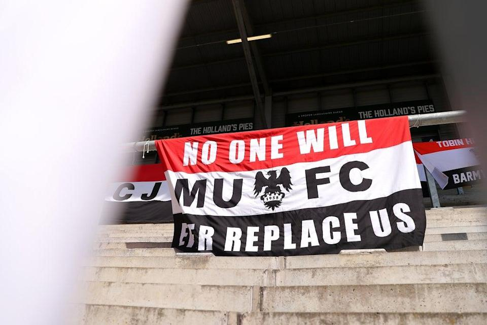 A fans' banner (PA Wire)