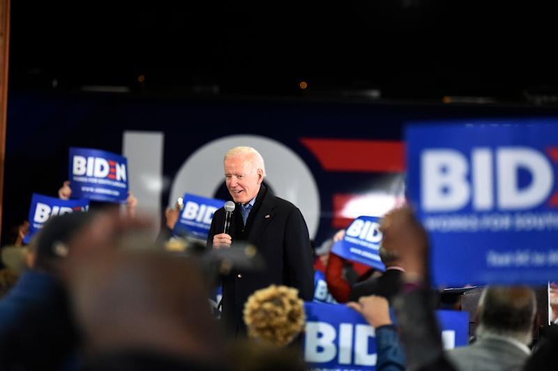 Joe Biden's strategy for winning the Democratic presidential nomination hinges in part on a convincing win in South Carolina's Feb. 29 primary. Here, he campaigns at an oyster roast event on Sunday in Orangeburg, S.C. (Photo: ASSOCIATED PRESS)