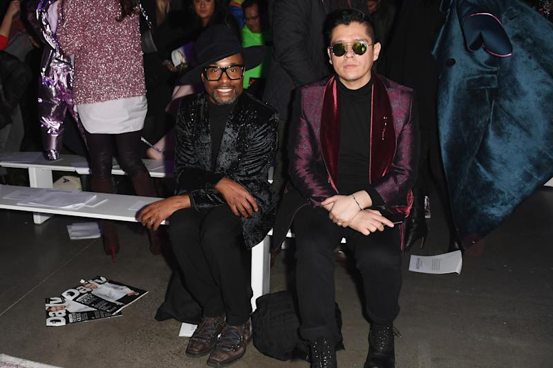 Getty Images for NYFW: The Shows — Nicholas Hunt: Billy Porter and Sam Ratelle at Naeem Khan's FW '19 runway show.