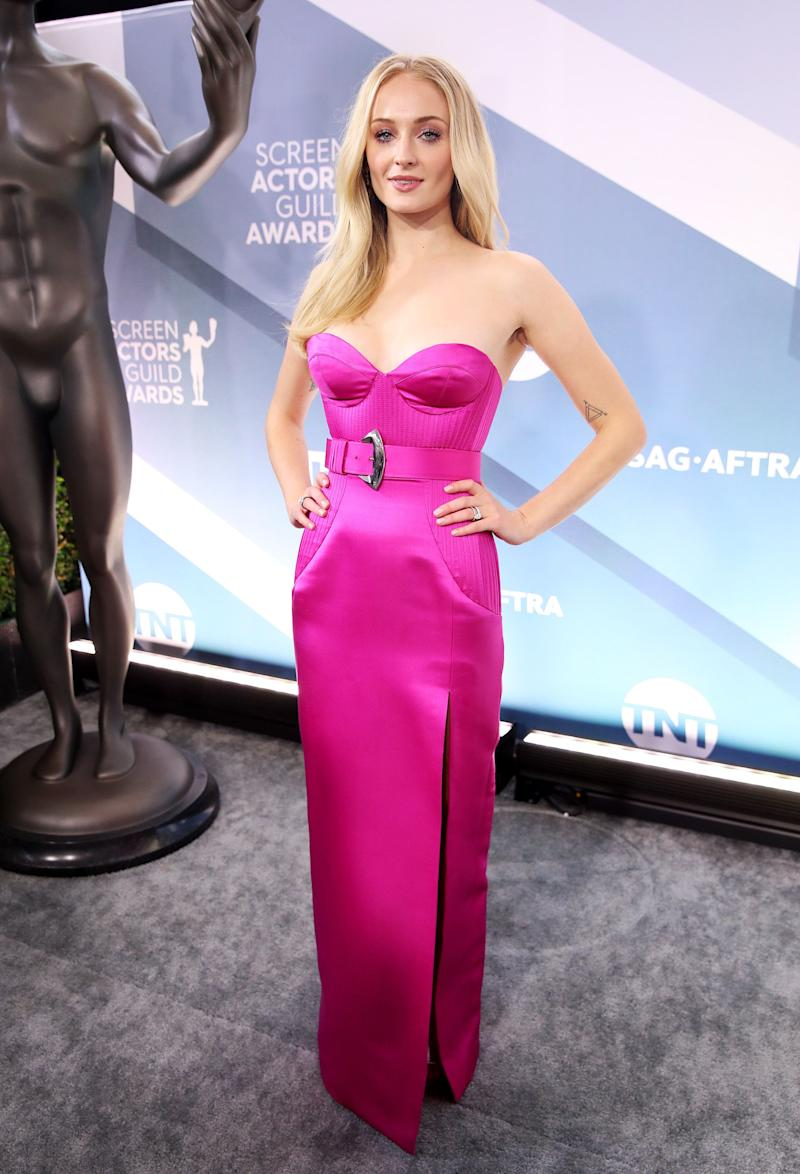 LOS ANGELES, CALIFORNIA - JANUARY 19: Sophie Turner attends the 26th Annual Screen Actors Guild Awards at The Shrine Auditorium on January 19, 2020 in Los Angeles, California. (Photo by Rich Fury/Getty Images) (Photo: Rich Fury via Getty Images)