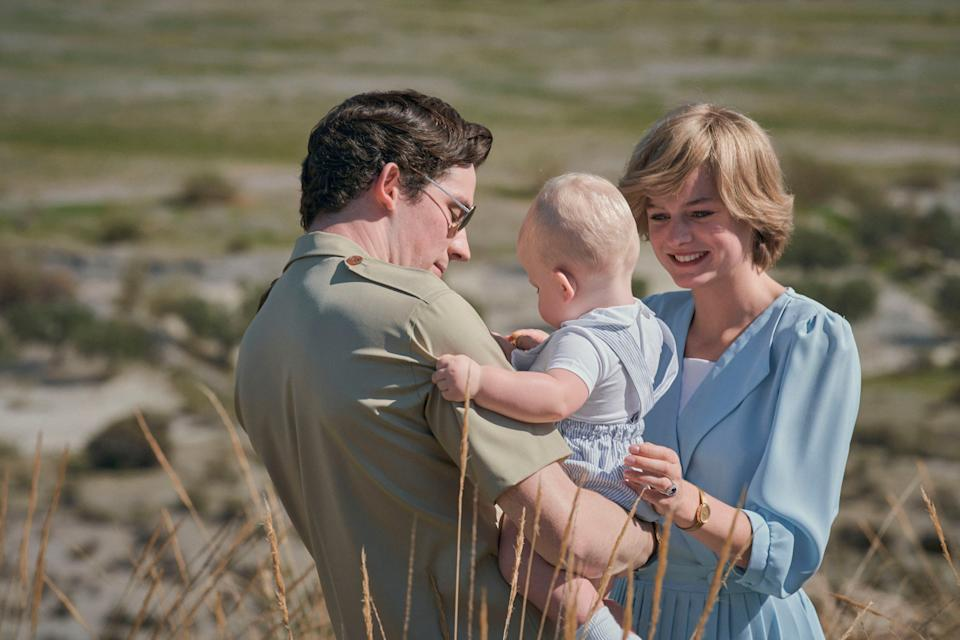 Josh O'Connor as Prince Charles and Emma Corrin as Princess Diana in The Crown - Des Willie/Netflix