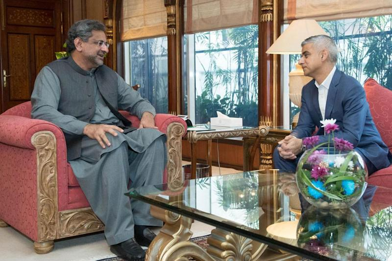 The Mayor met with Pakistani PM Shahid Khaqan Abbasi