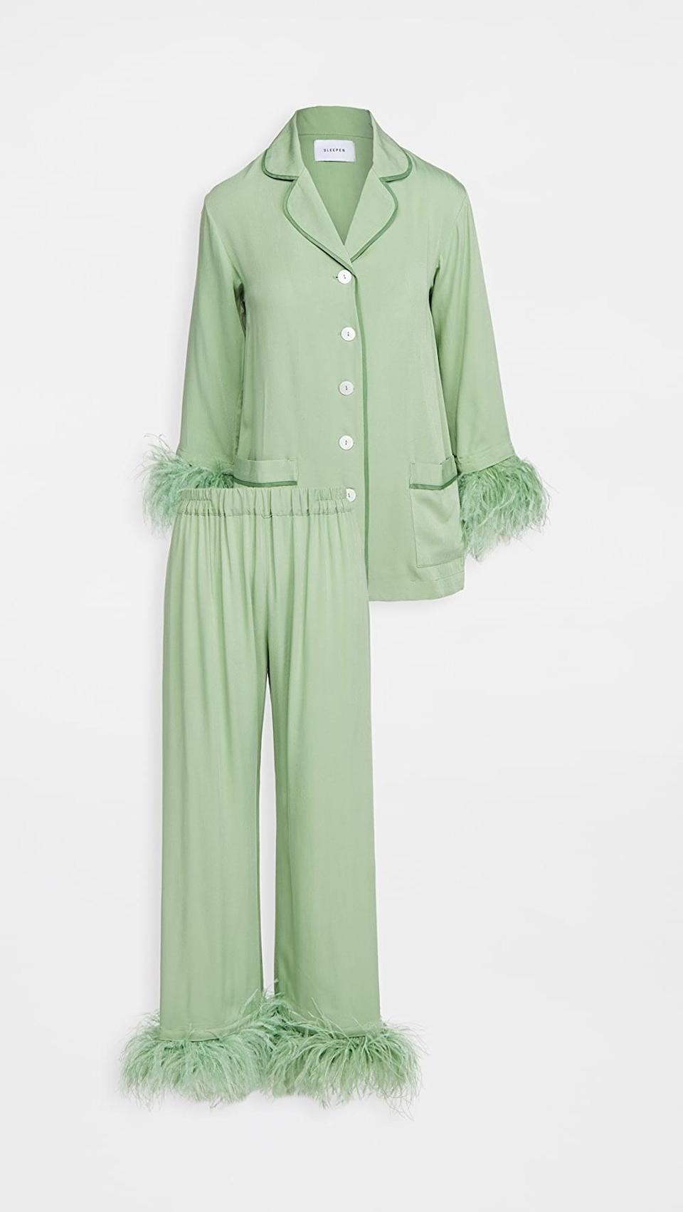 <p>Staying home has never looked this chic. I have this <span>Sleeper Party Pajama Set</span> ($320) high on my wish list. </p>