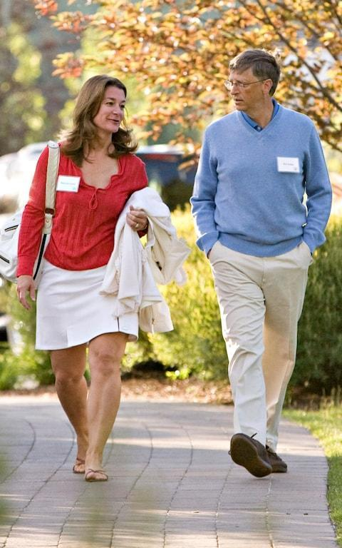 <span>Bill and Melinda Gates at a tech conference in 2009</span> <span>Credit: Bloomberg </span>