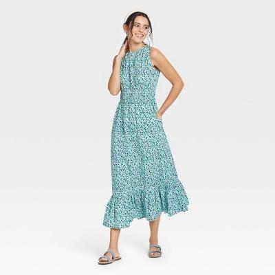 <p>For daytime, wear this <span>A New Day Smocked Waist Dress</span> ($28) with chunky sneakers or comfy slide sandals.</p>