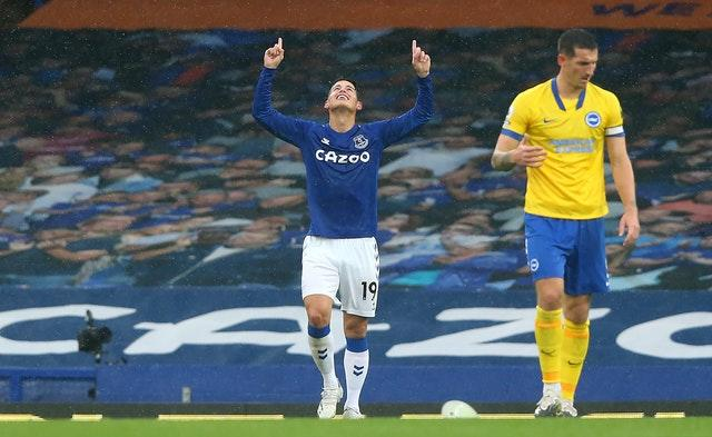 James Rodriguez had another fine afternoon for Everton